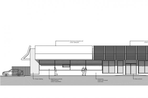 A design layout of the fast food restaurant units submitted with the application. Picture: Studio KMA