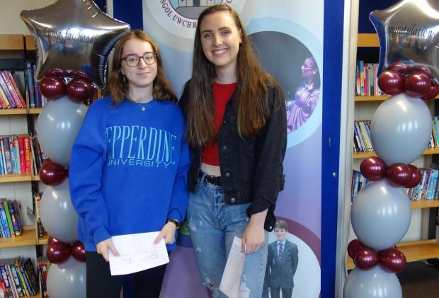 Denbighshire Free Press: Jess Briody-Hughes and Isobel Lloyd