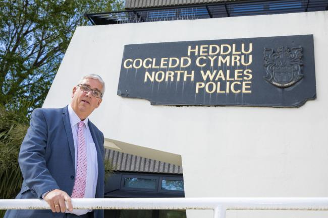 Arfon Jones photographed at North Wales Police HQ.                       Picture Mandy Jones.