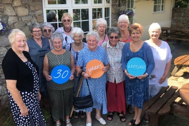 Ruthin and Denbigh Friends of Tenovus Cancer Care recently celebrated 30 years