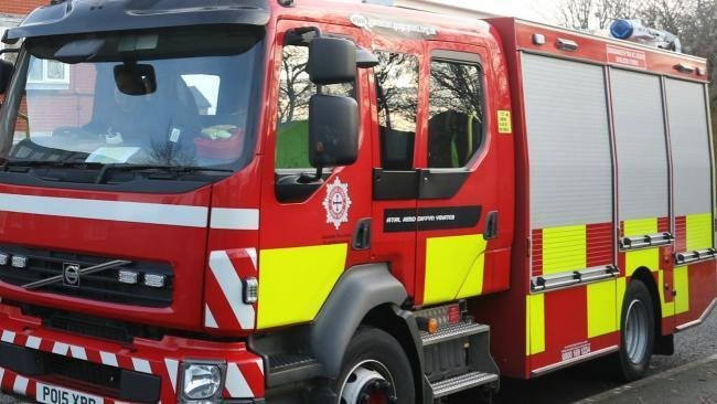 North Wales Fire and Rescue Service sent three crews to the crash near Abergele to use cutting equipment