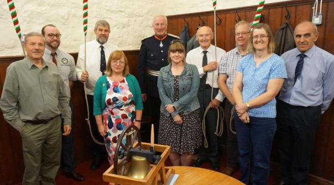 The bell ringers and the Lord Lieutenant