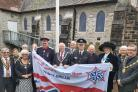 Residentrs and Denbighshire County Council dignitaries attended the ceremony