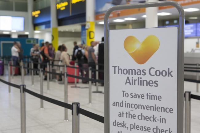 Thomas Cook airport check-in desk