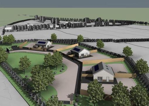 Aerial view of proposed development. Picture: Design and Access Statement