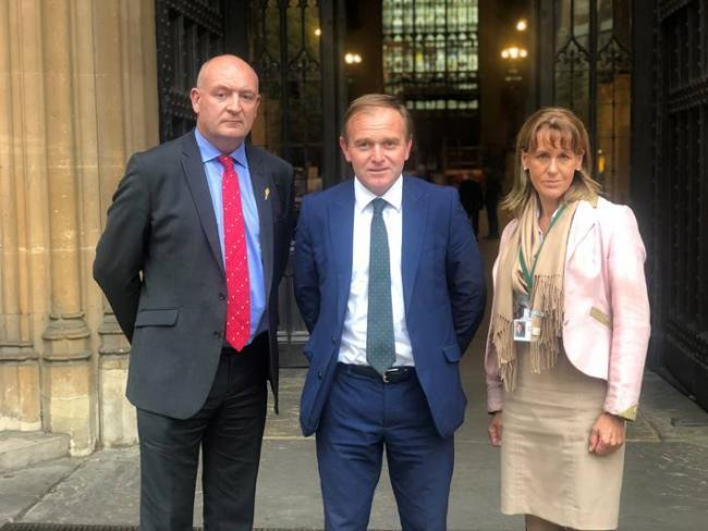 John Davies, George Eustice and Minette Batters