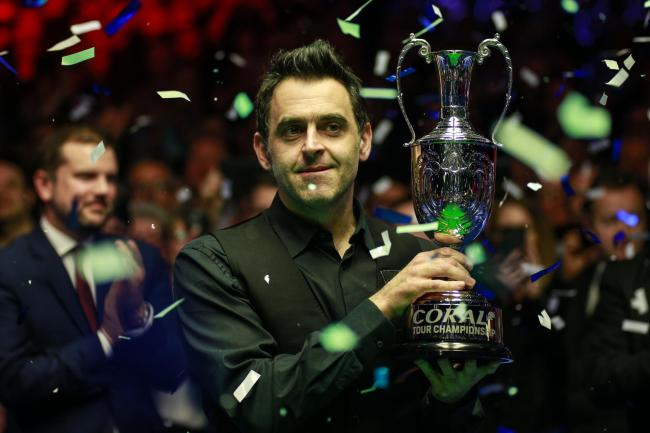 Ronnie O'Sullivan won this year's Coral Tour Championship in Llandudno
