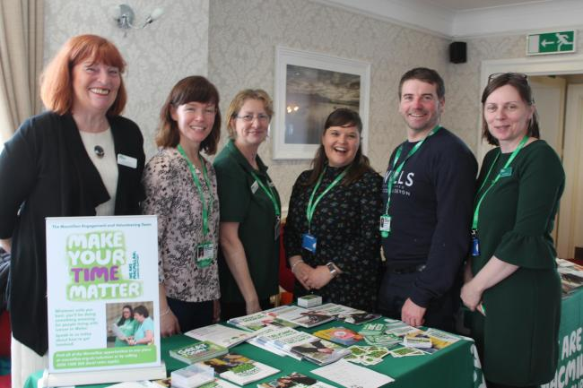 Macmillan staff are on hand to help.
