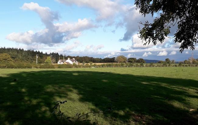 Land off Henllan Road in Upper Denbigh is among the early suggestions for the transit site. Picture: Kerry Roberts