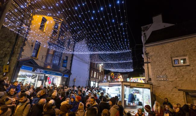 Crowds gather under Denbigh lights during a previous event. PICTURE: Don Jackson-Wyatt.