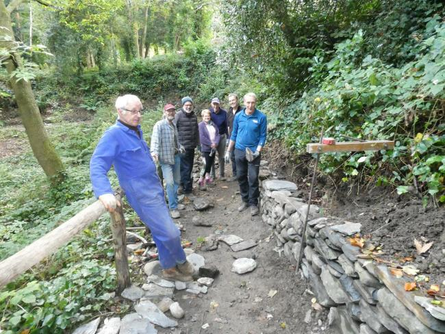Volunteers at The Dell, Llangollen where a number of restoration projects began this autumn