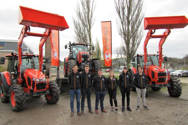 The new Kubota cohort with Cambria lecturer Simon Parker and Kubota representatives.