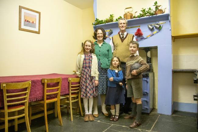 Carys Newton with husband Stephen and children Lleucu, Macsen and Eos