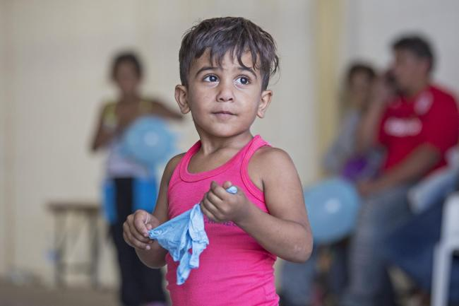 Syrian migrant child. Picture: Press Association
