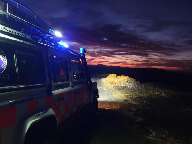 North East Wales Search and Rescue Team near Lake Vyrnwy. (Image: North East Wales Search and Rescue)
