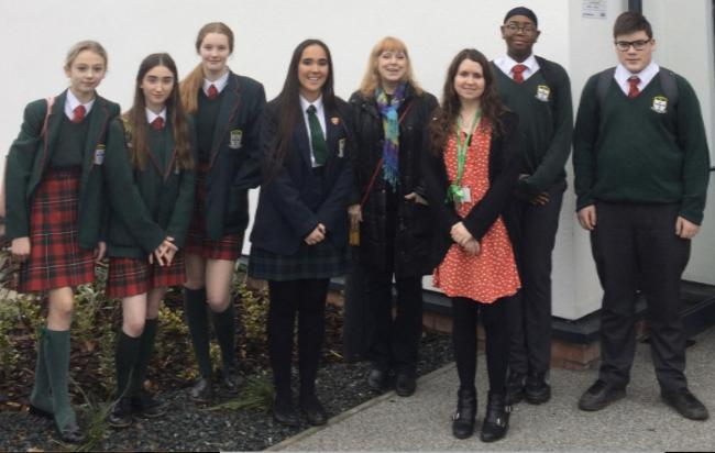 The St Brigid's School contingent at the St Kentigern Hospice open day