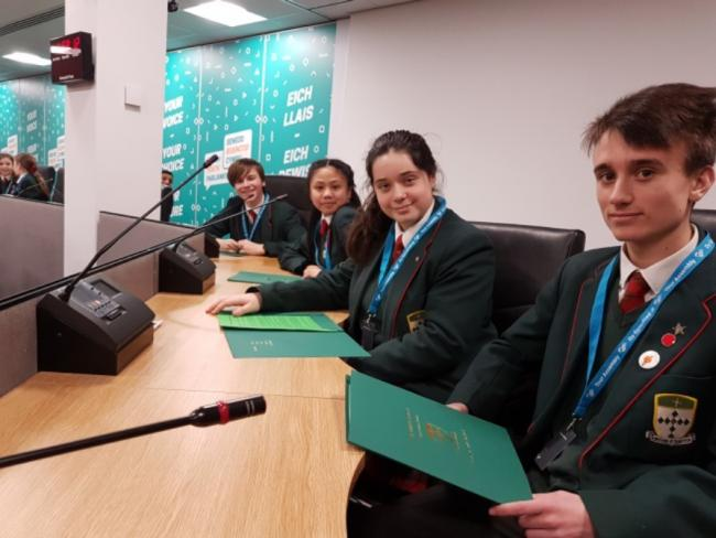 From left: Owen Brumby, Sian Sumang, Anna Shorter and Freddie Kingsland