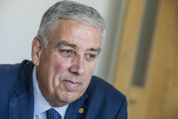 Arfon Jones, the new North Wales Police and Crime Commissioner at Police HQ in Colwyn Bay..