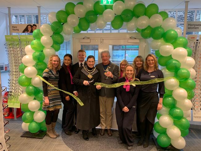 The opening of Specsavers in Denbigh