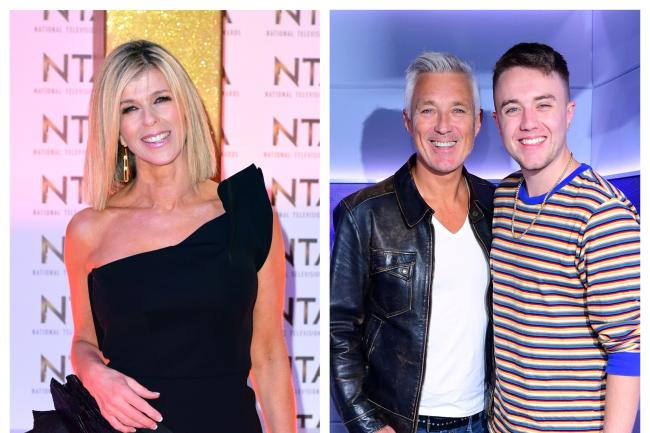 Kate Garraway and Martin and Roman Kemp (Ian West/PA)