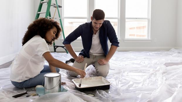 Denbighshire Free Press: Prepping your workspace with a drop cloth or plastic covering is a key part of the process. Credit: Getty Images / SDI Productions