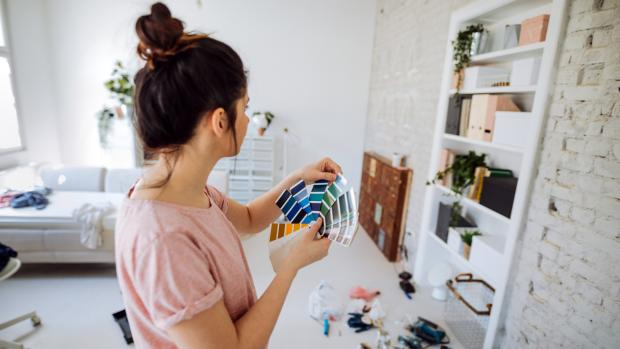 Denbighshire Free Press: Consider what colour you'd most enjoy in the space, and feel free to consult paint fan decks, samples, and even apps to help you decide. Credit: Getty Images / AleksandarNakic