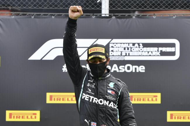 Lewis Hamilton celebrated winning the Styrian Grand Prix with a Black Power salute