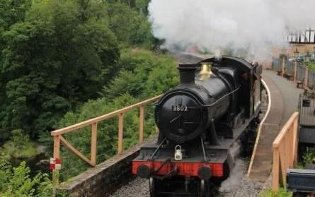 Locomotive in steam at Llangollen as preparations to reopen railway continue