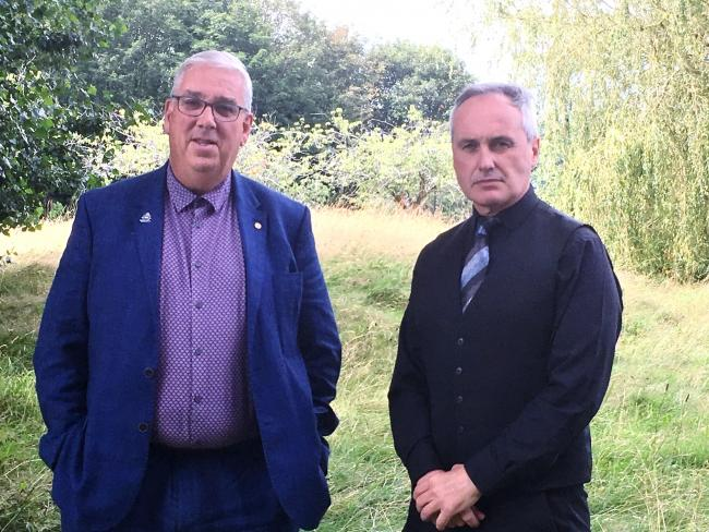 North Wales Police and Crime Commissioner Arfon Jones with Rob Taylor from the Rural Crime Team