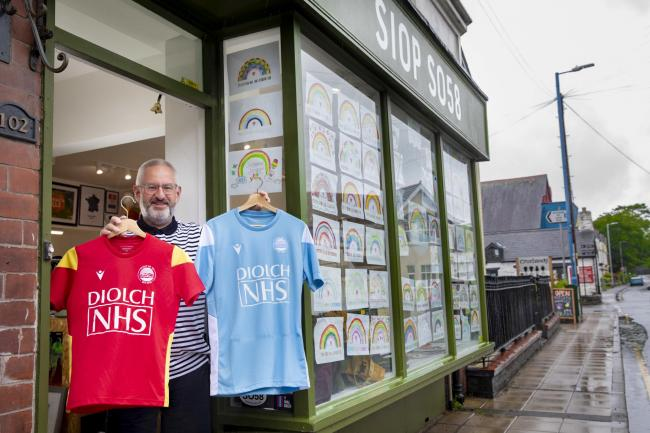 Tim Williams outside his Spirit of 58 shop in Bala. PICTURE: Mandy Jones