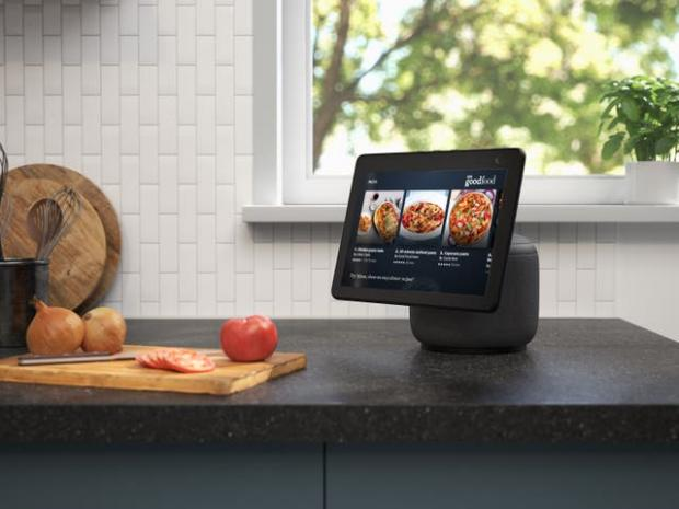 Denbighshire Free Press: The new Echo Show screen can swivel to follow the user. Picture: Amazon