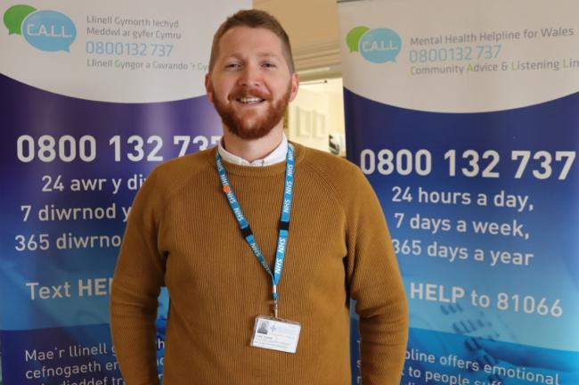 CALL Helpline Manager, Luke Ogden