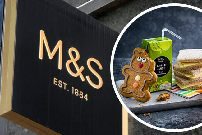 M&S offer free kids meals in cafes during half term (but there's a catch). Pictures: M&S/PA Wire