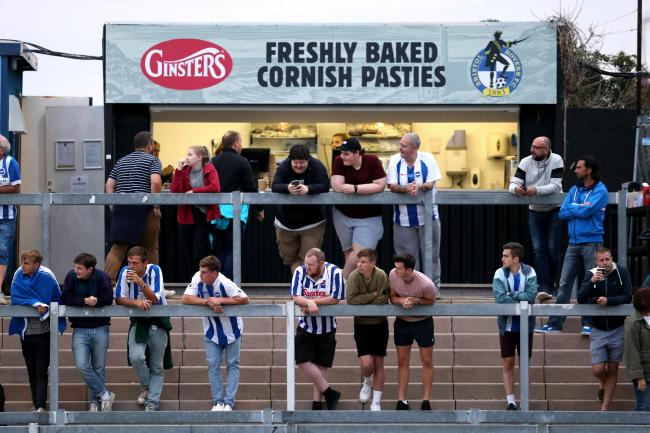 Cornish pasties will be off the menu for St Blazey players