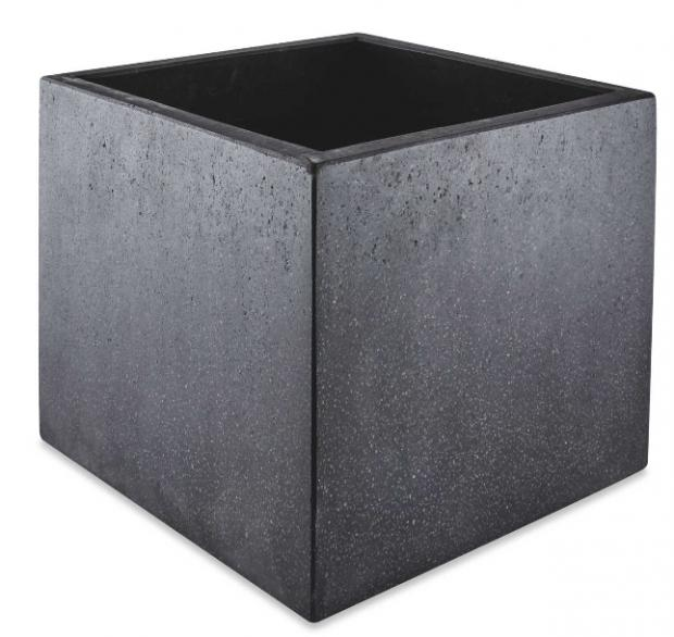Denbighshire Free Press: Black Square Terrazzo Plant Pot. (Aldi)