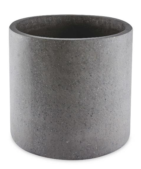 Denbighshire Free Press: Grey Round Terrazzo Plant Pot. (Aldi)