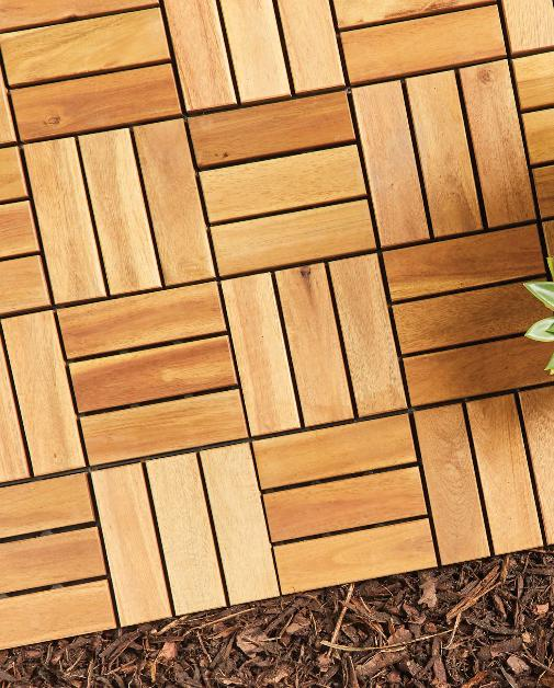 Denbighshire Free Press: Two Direction Wooden Decking Tiles. (Aldi)