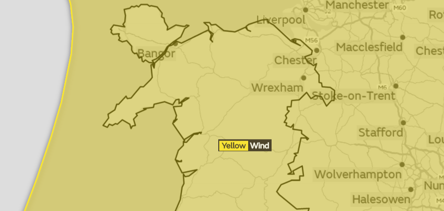 Met Office have issued yellow weather warning for Wales