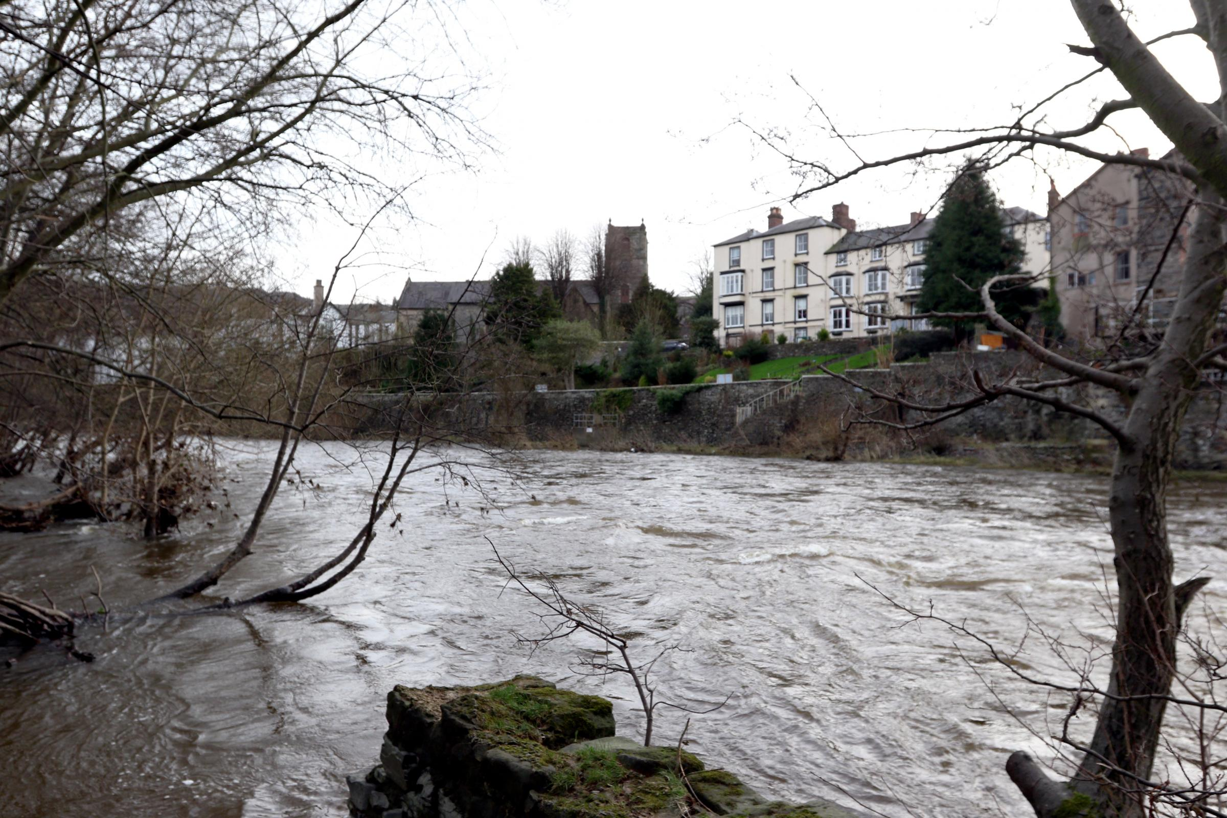 Scene shot of the River Dee in Llangollen