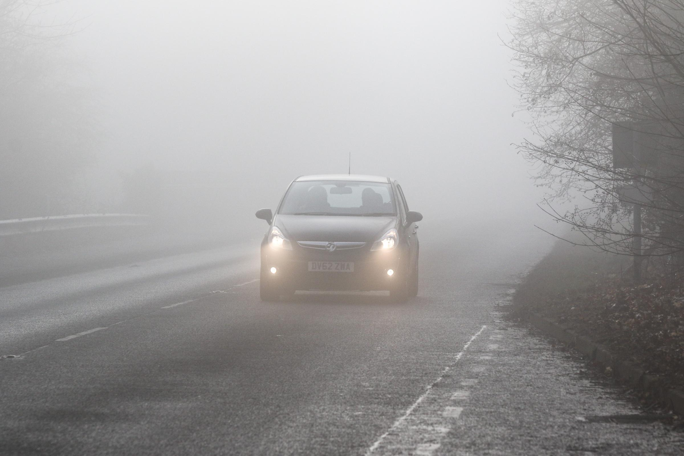 Fog warning issued by Met Office