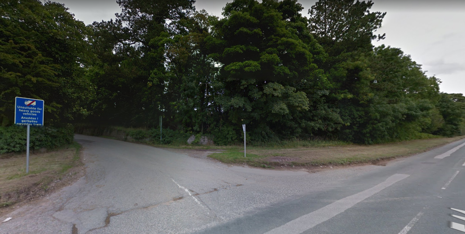 Denbigh Road near former sand and gravel pit in Afonwen. Picture: Google