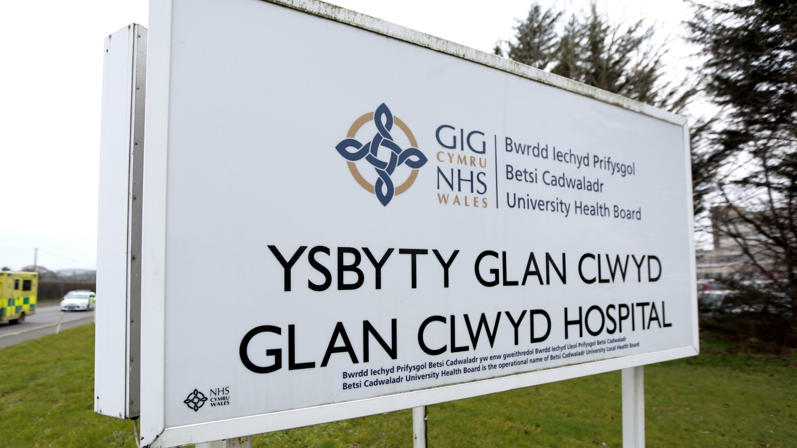 Amber Davies has thanked Glan Clwyd Hospital