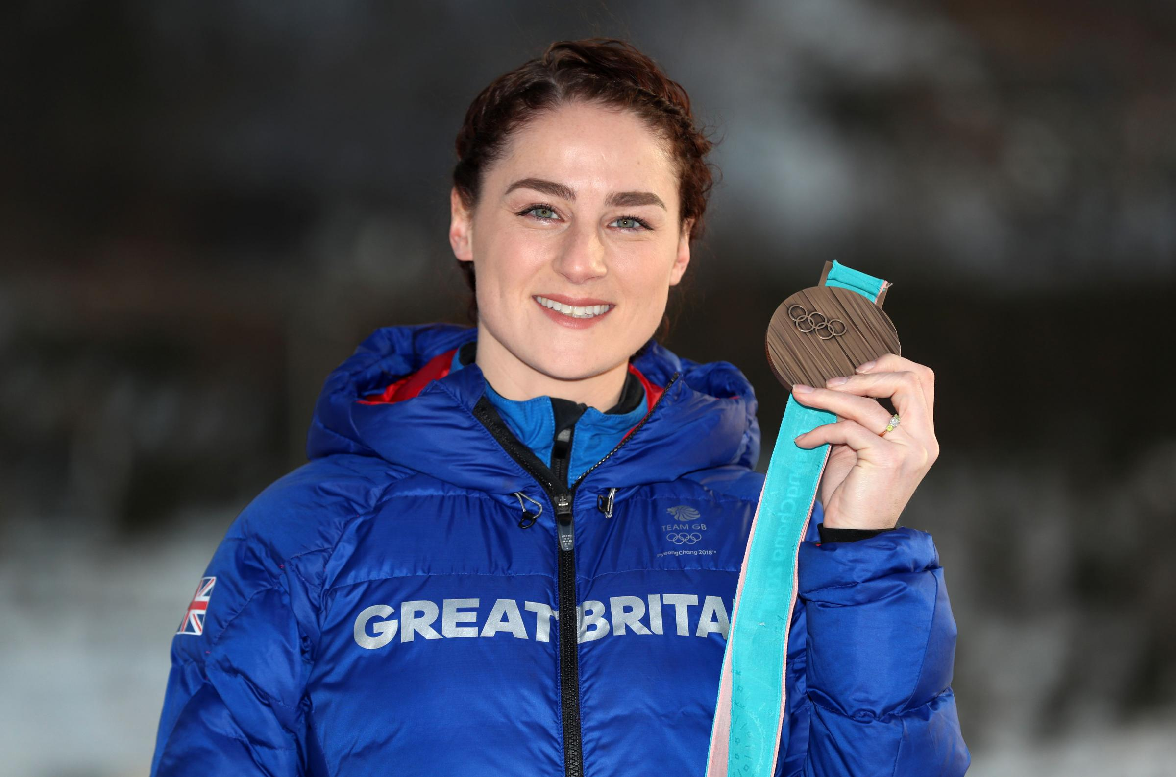 Great Britain's Laura Deas with her Bronze medal, during a photocall at the MPC in Alpensia on day eleven of the PyeongChang 2018 Winter Olympic Games in South Korea. PRESS ASSOCIATION Photo. Picture date: Tuesday February 20, 2018. Great Britainâs L
