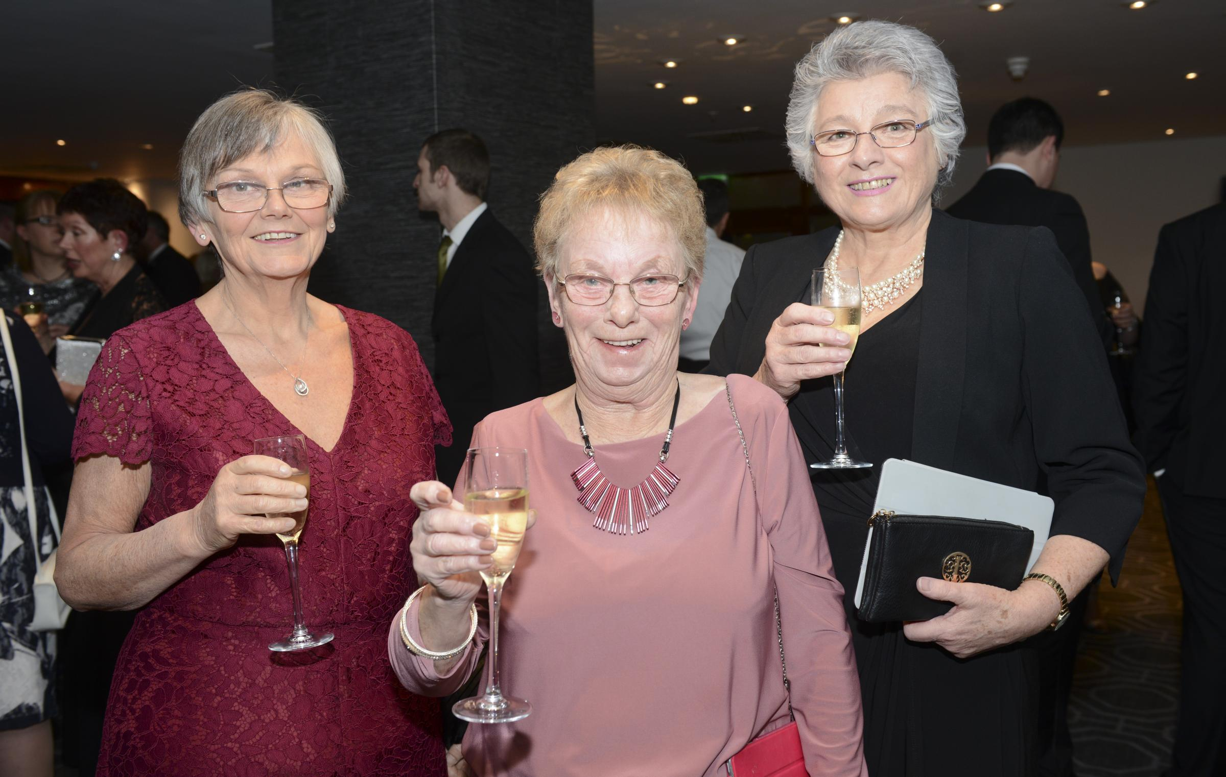 From left: Dr Sarah Horrocks, Chair of Clwyd Alyn Housing Association, Pentre Mawr resident Ann Rothwell, and Pentre Mawr Warden Alison Pring at the recent WCVA Award ceremony in Cardiff