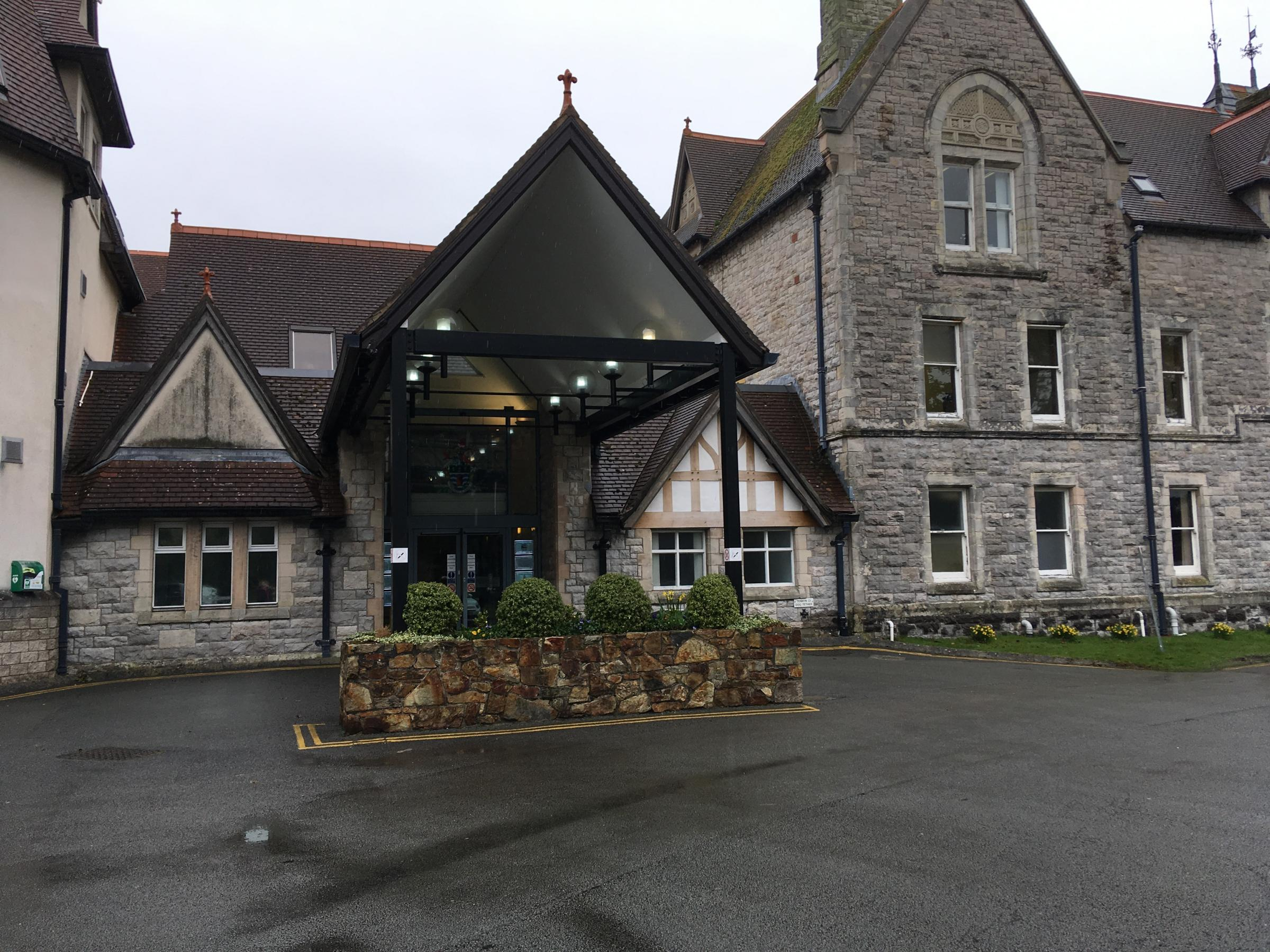 Conwy county hall at Bodlondeb. Picture by Shane Brennan