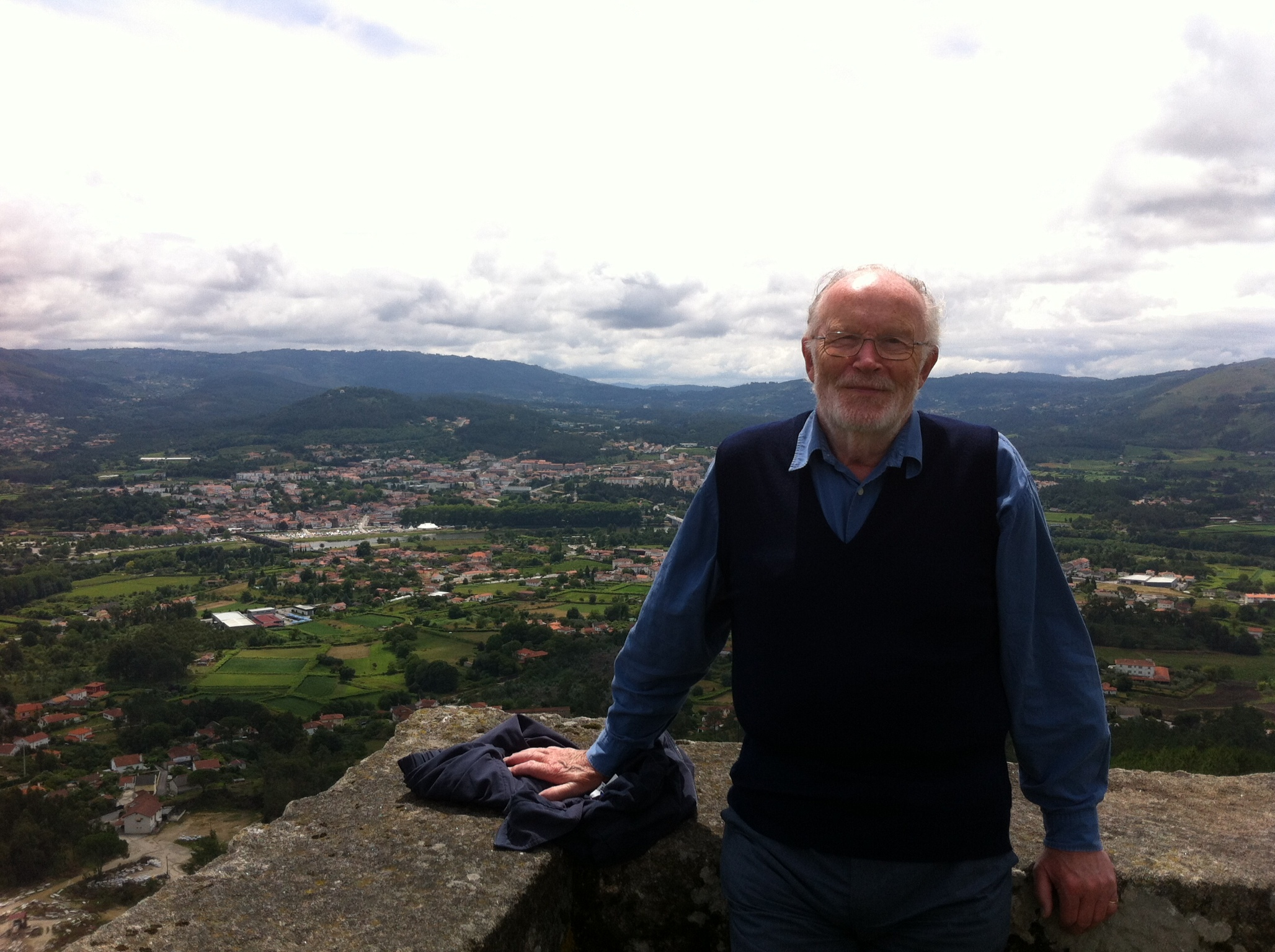 Malcolm Morgan on holiday in Portugal where he spent a lot of time after his retirement