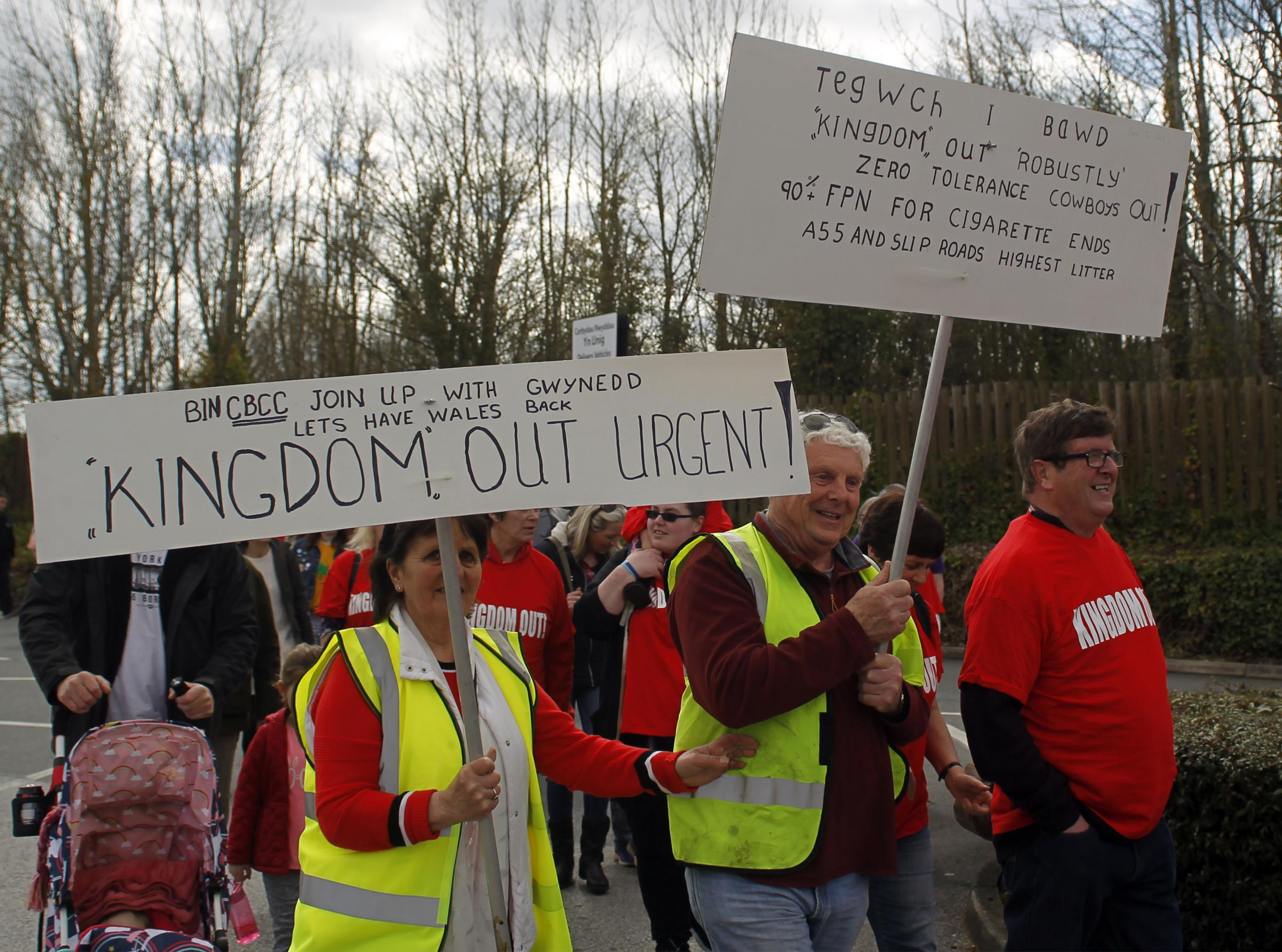Protestors against Kingdom in Llandudno Junction on Satruday. Picture: David Thomas