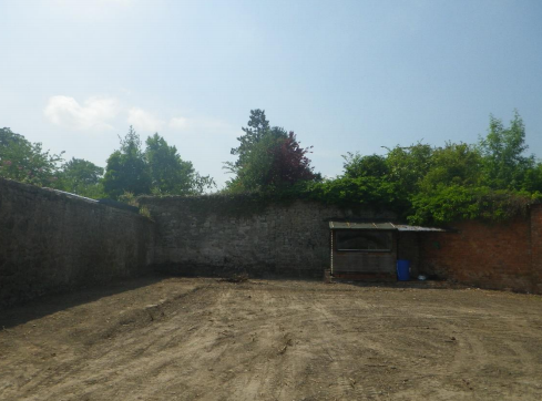 West wall View of the plot. Picture: Design and Access Statement