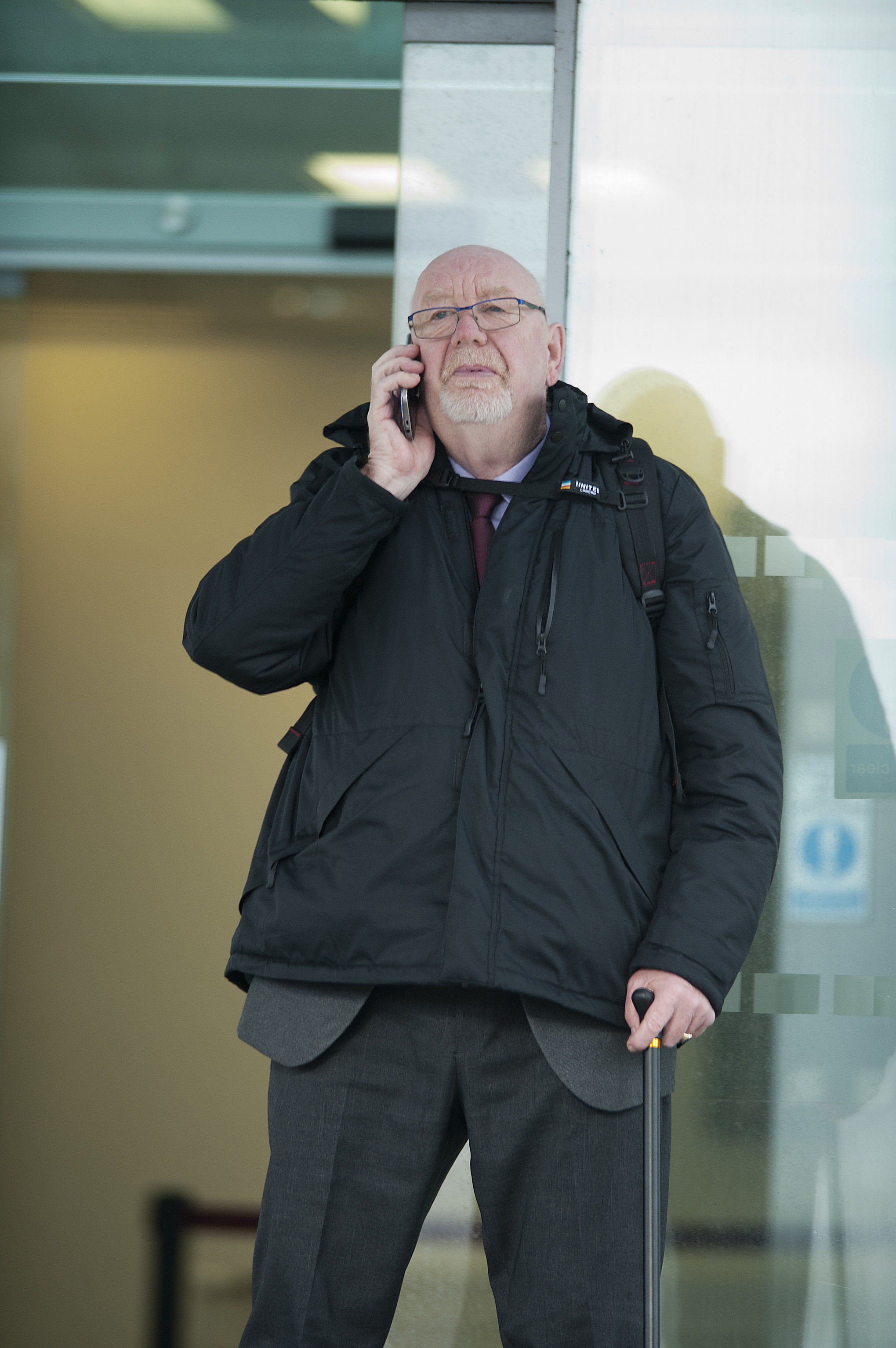 Bryan Davies outside Mold Crown Court.
