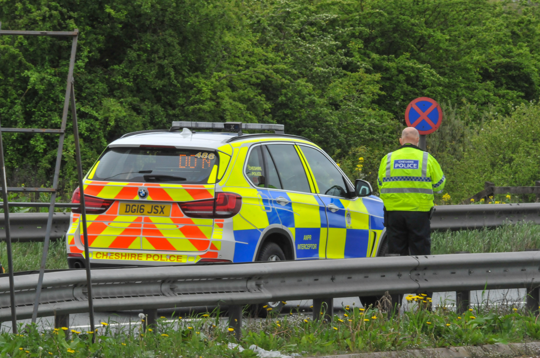 Police at the scene of last Friday's collision on the A483 near the Posthouse roundabout